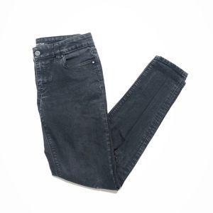 White House Black Market Black Ripped Jeans